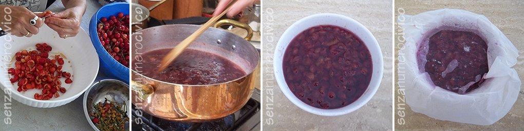 step confettura ciliegie ferber, denocciolatura e macerazione