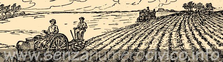 illustrazione aratura del terreno