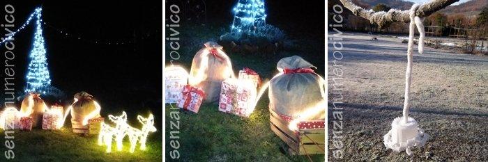 decorazioni natalizie in giardino