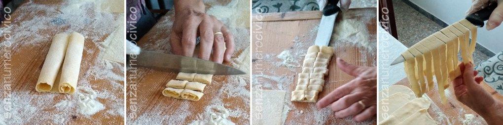 pasta all'uovo: tagliare a pappardella