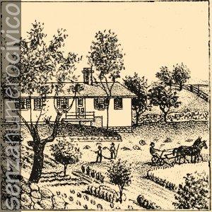illustrazione lavorazione dei campi
