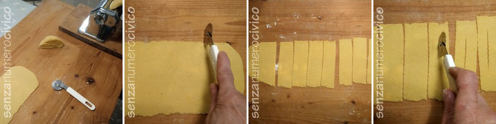 step: stesura e taglio della sfoglia