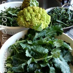 cuocere le verdure: cimette di rapa, cavolo nero e cavolfiore