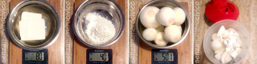 ingredienti per la zuppa di cipolle