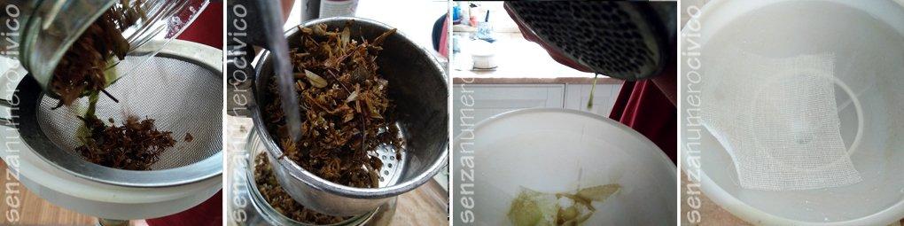 pre-filtrazione dell'elixir di timo